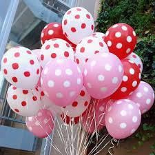 50 polka dot air blown balloons in Pune