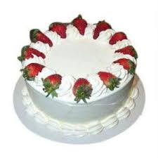 Eggless cake 1 kg Strawberry cake