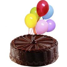 1 kg chocolate cake with 12 balloons