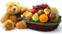4 kg Fruits basket with teddy