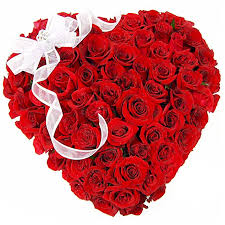 24 Red roses made in a heart