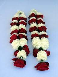 two garlands of flowers