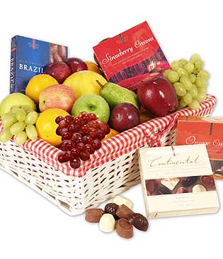 4 kilo fresh Fruit basket with chocolates box