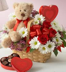 Teddy chocolates and Flowers