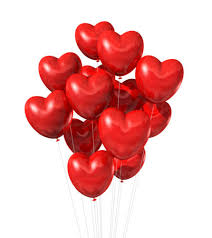 40 heart shaped gas balloons