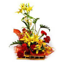 Carnations and Lilies basket