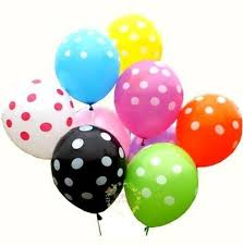 12 polka dot air balloons delivery pune