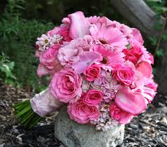 Pink Flowers in a Bouquet