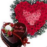 24 roses heart with heart shaped chocolate cake 1 kg