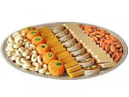 1/2 kg mithai and 1/2 kg dry fruit