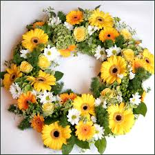 Wreath with yellow flowers